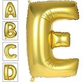 Lovne 40 Inch Jumbo Gold Alphabet E Balloon Giant Prom Balloons Helium Foil Mylar Huge Letter Balloons A to Z for…
