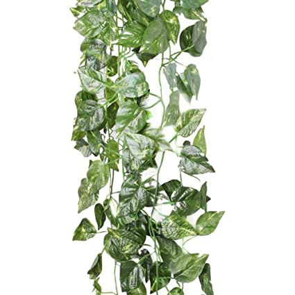 Home & Garden 2m Long Simulation Rattan Leaves Plants Green Ivy Leaf Fake Grape Vine Artificial Flower String Foliage Home Wedding Decoration Bright In Colour Artificial Decorations