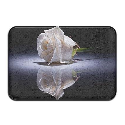 Amazon Yoyupro Absorbent Non Slip Floor Rug Door Mat White