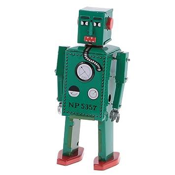 Enrolla Juguete De Robot Modelo Vendimia Magideal Mecánico NnkPZwO0X8