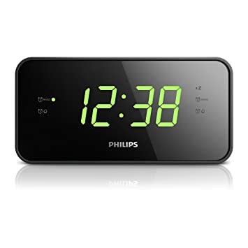 Philips AJ3232B/37 - Radio (Reloj, Digital, Am,FM, 87,5-108 MHz, LED, Negro): Amazon.es: Electrónica