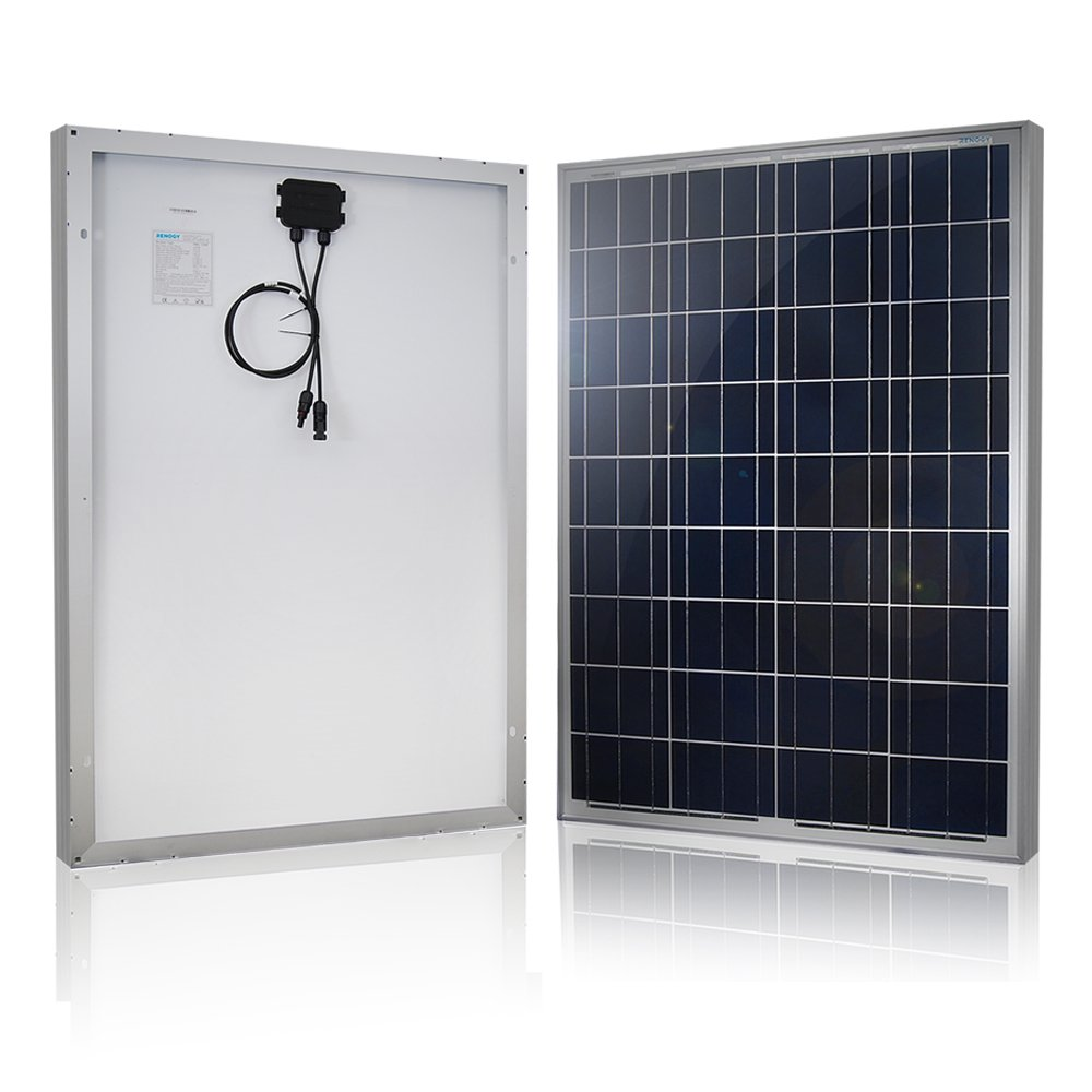 Renogy 100W 12V Solar Panel High Efficiency Module PV Power for Battery Charging Boat, Caravan, RV and Any Other Off Grid Applications, Single by Renogy
