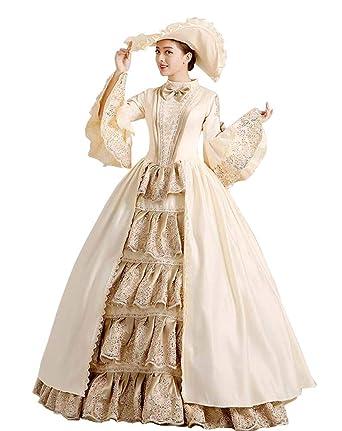 67cea77e59c6 Zukzi Women's Gothic Victorian Lolita Masquerade Dresses Ball Gowns, 1  Champagne, ...