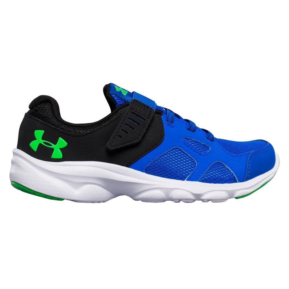 Under Armour Kids Boy's UA BPS Pace RN AC (Little Kid) Ultra Blue/White/Lime Twist 12 Little Kid M by Under Armour