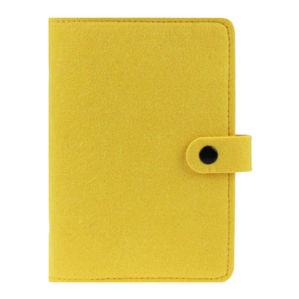 Carpeta de fieltro tamaño A6, cuaderno en espiral, carpeta de 6 anillas,planificador de agenda, diario de viaje recargable,cubierta de cuaderno con ...