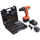 BLACK+DECKER CD961K50 9.6 Volt Cordless Keyless Chuck Drill Driver Kit (Orange, 50 Accessories)