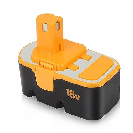 Batteriol Batería 18V 3.0Ah para Ryobi One Plus P100 P101 130224028 ...