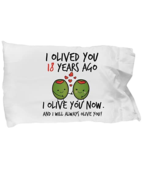 Amazon 18th Wedding Anniversary Gifts For Him I Olived You