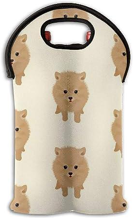 Set de vino tinto con diseño de perro Pomerania en caja de regalo de Navidad para botella de vino, bolsa para cena, fiesta, adorno: Amazon.es: Hogar