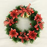 Christmas Garland for Stairs fireplaces Christmas Garland Decoration Xmas Festive Wreath Garland with Christmas wreath Dress up,60cm