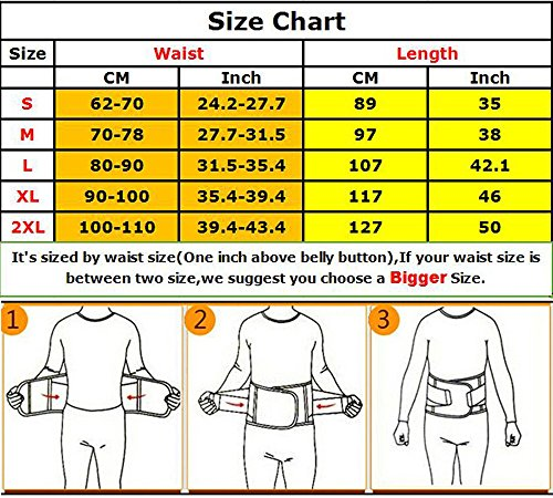 5f8f500964 KOOCHY Women s Waist Trainer Belt - Waist Cincher Trimmer - Slimming Body  Shaper Belt - Sport Girdle Belt for Weight Loss(Black
