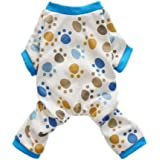 Fitwarm® Adorable Paws Dog Pajamas for Dog Shirt Cozy Soft Dog Pjs Dog Clothes