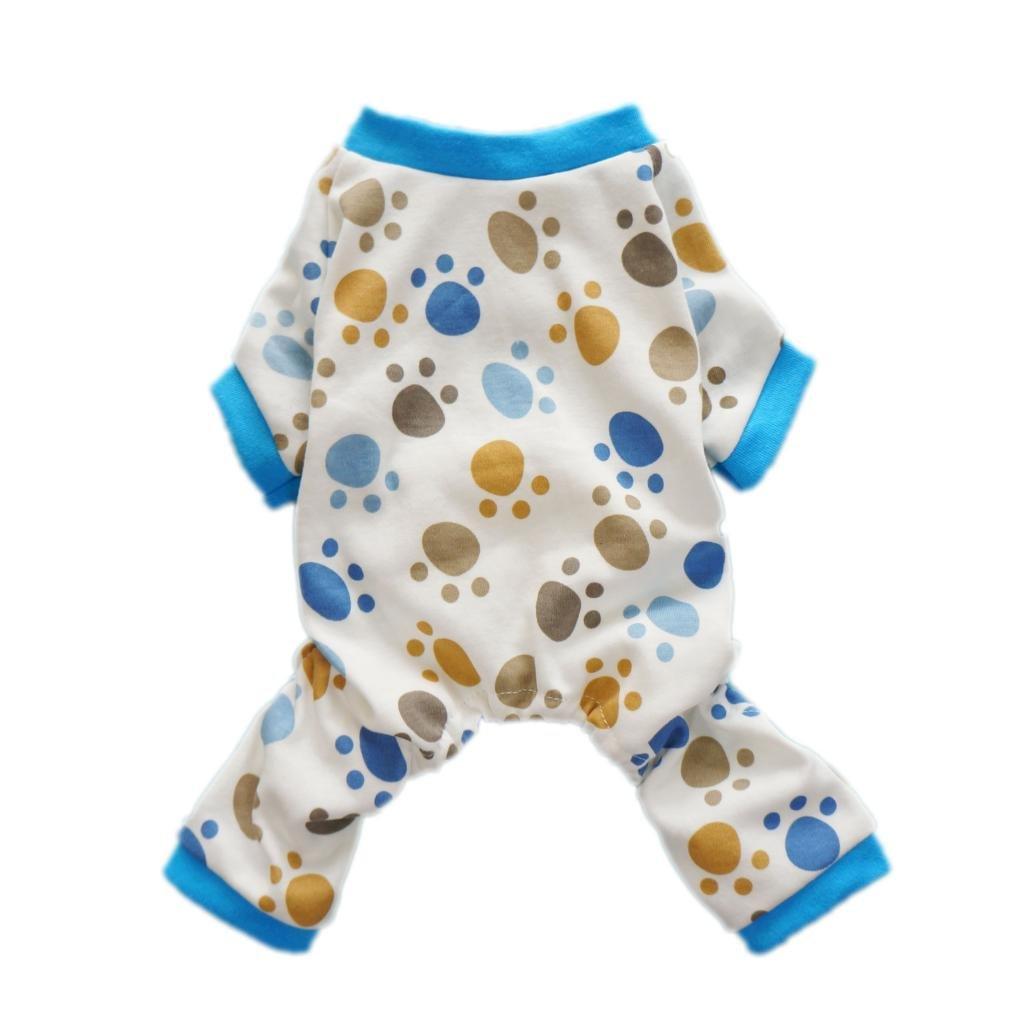 Fitwarm Adorable Paws Dog Pajamas for Dog Shirt Cozy Soft Dog Pjs Dog Clothes, Medium