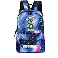 Unisex Riverdale Backpack Multifunction Laptop Backpack Student School Book Bag for Youth Girl Boy (Galaxy Blue)