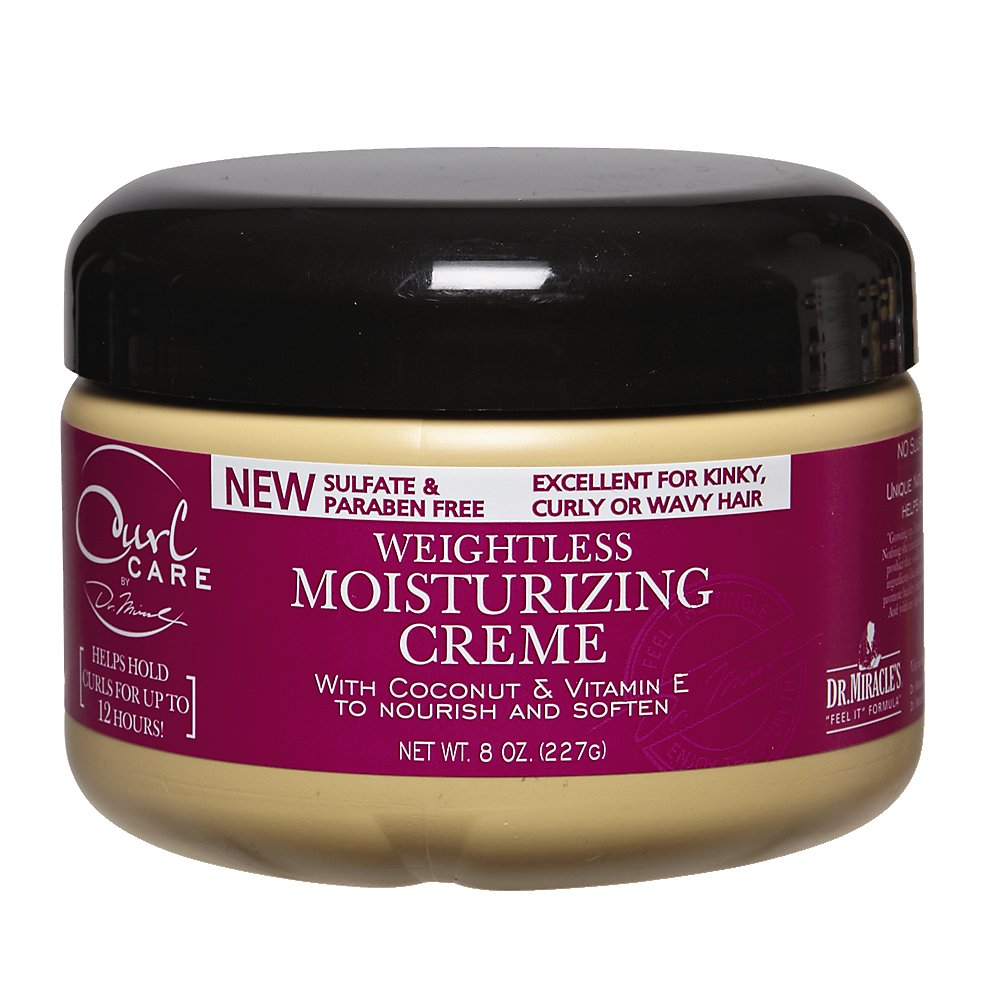 Dr. Miracle's Curl Care Weightless Moisturizing Creme, 8 Ounce