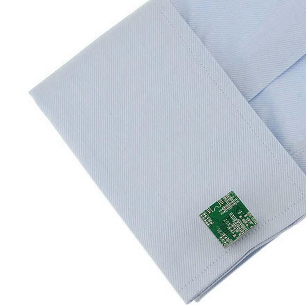 Doitsa 1 par Gemelos hombre Mancuernas de camisa Moda Simple Forma de placa de circuito Oficina Boda Regalo Verde: Amazon.es: Hogar