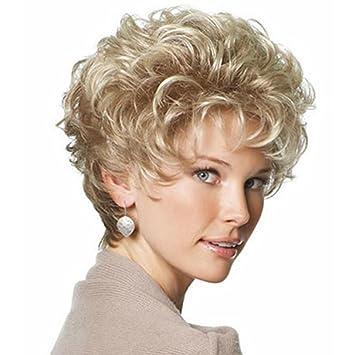 Perücken Mode Frauen Natürliche Hitzebeständige Welle Kurze Haare Qi
