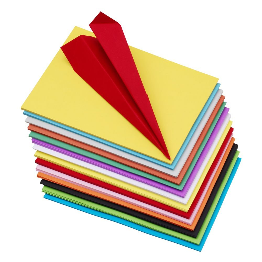 Premium Pack Of 100 A4 Size Assorted Color Sheets Copy Printing Papers