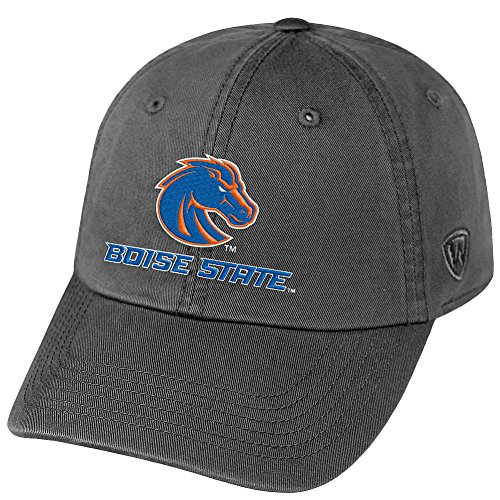 Top of the World NCAA Boise State Broncos Men's Adjustable Relaxed Fit Charcoal Icon Hat, Charcoal - Boise Hats Broncos State