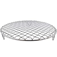"""LissomPlume Cooling Rack Baking,Versatile Round 304 Stainless Steel Heat Resistant Rust Proof Sturdy Durable Dia 10.4"""""""
