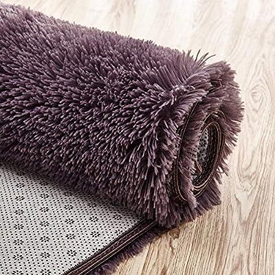 Softlife Super Soft Velvet Area Rugs, Fashion Color Modern Shaggy Carpet Nursery Rug for Bedroom Girls Room Home Decor