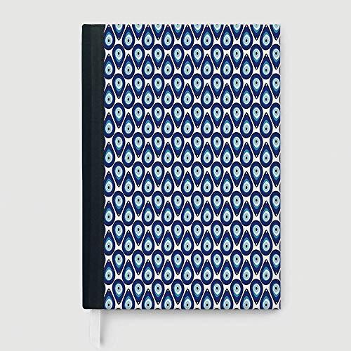 Cuaderno grueso para computadora portátil, étnico, cuaderno de composición, tradicional ruso de punto de cruz patrón...