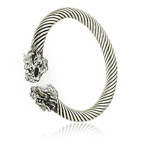 Amazon.com: Antiguo Plata Dragón Retro Fashion pulsera de ...