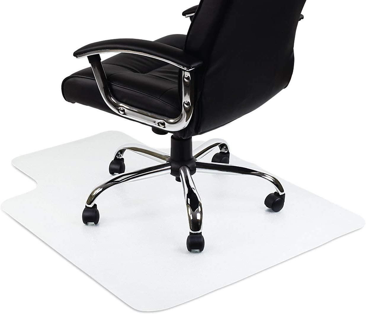 Chair Mats Home Kitchen 16x24inch Clear Office Chair Mat For Carpet Hardwood Floor Pvc Rectangular Lip Anti Slip Floor Mat For Tables And Chairs Home Parquet Floor Floor Protector 1 5mm 40x60cm