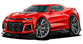 Amazon Com 2017 2018 Camaro Zl 1 Chevy Wall Decal 12 X 24 2ft