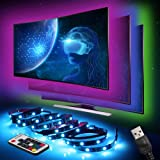 LED TV Backlight Strip Lights, InnooLight LED TV Lighting Strips 2M USB Powered with 7 Colors, Remote Control and for HDTV, Bedroom, Party and Home Decoration, SMD 5050RGB Bias Lighting, 4 * 50cm Set