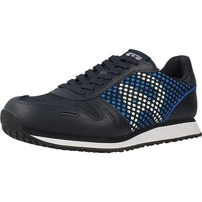 Armani Scarpe Originale Sneakers Amazon it Blu Uomo Jeans Nuove rwqFrC