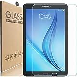 [2 Pack] KIQ Galaxy Tab E 9.6 SM-T560 Tempered Glass Screen Protector, 9H Tough 0.30mm Bubble-Free Anti-Scratch Self-Adhere E