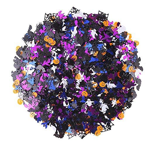 DECORA Plastic Confetti Multi-Shaped Glitter Colorful Confetti for