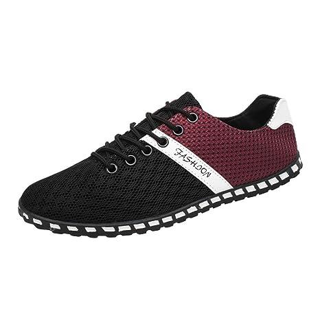 Zapatos de hombre Hombres Zapatillas Nuevo estilo Moda Hombres Casual Deportes Corriendo Malla Cómodo Respirable Plano