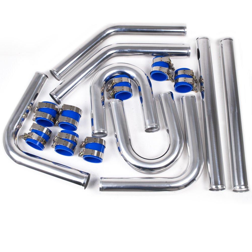 Universale in lega di alluminio 8 Pezzo 2, 25 pollici U Bend Turbo Custom Race Car Kit Intercooler rigido tubo UK-Performance-Parts