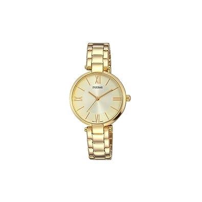 Seiko Pulsar Reloj Dama Dorada números Romanos ph8244 X 1: Amazon.es: Joyería
