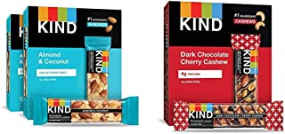product image for KIND Bars, Almond and Coconut, Gluten Free, 1.4 Ounce Bars, 24 Count & Bars, Dark Chocolate Cherry Cashew + Antioxidants, Gluten Free, 1.4 Ounce (12 Count)