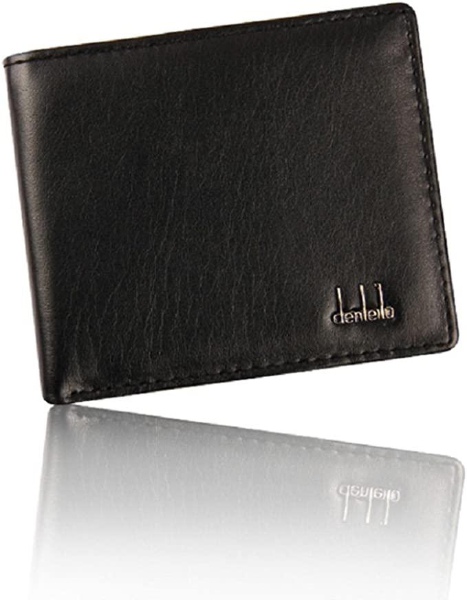 Bolayu Men Business Leather Bifold Wallet ID Credit Card Holder Purse