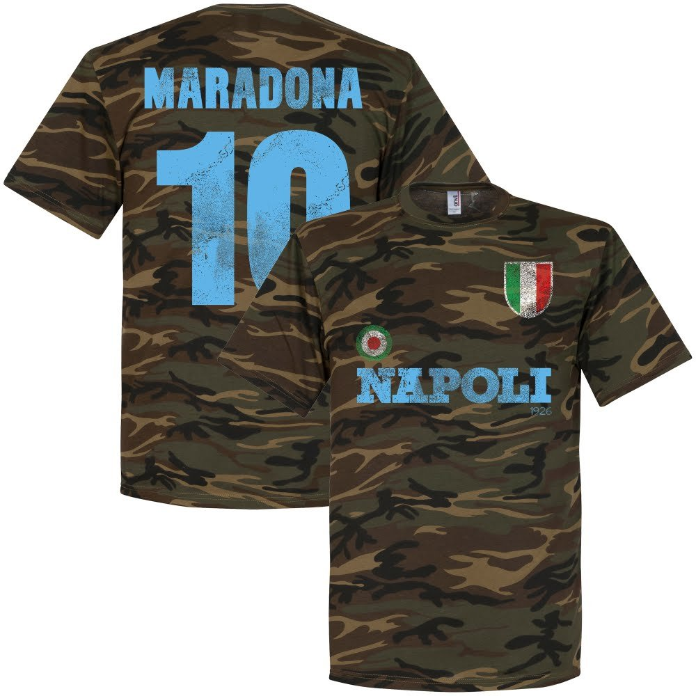 Retake Napoli Maradona Camo T-shirt