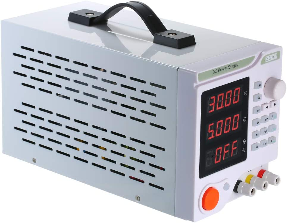 Baugger Affichage /à 4 chiffres LED Alimentation programmable CC Haute pr/écision Variable R/églable 0-30V 0-5A Alimentation /à d/écoupage CC r/égul/ée Alimentation num/érique r/égul/ée de qualit/&