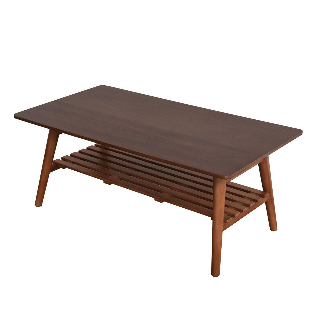 VANETTE(バネット) ウォールナット 折りたたみテーブル 幅88cm (スクエア型) B07D8RC3PZ
