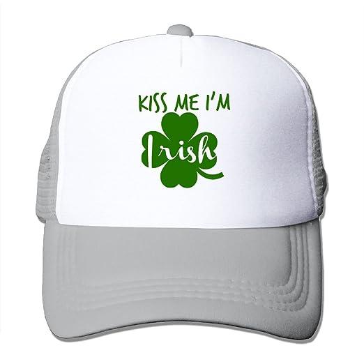 1406fd890f9 Trucker Mesh Hat Kiss Me Irish Baseball Cap Sun Visor Caps Adjustable Hats