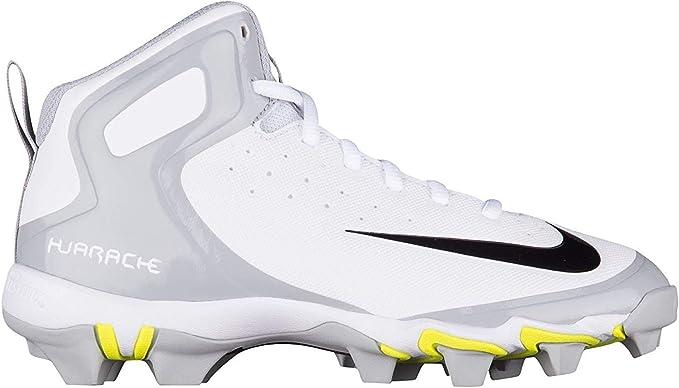 Nike Kids Alpha Huarache Keystone Mid Zapatillas de béisbol, Blanco/Gris: Amazon.es: Deportes y aire libre