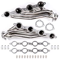CCIYU Stainless SBC Small Block Hugger Exhaust Manifold Header Fits for Ford Mustang 5.0L