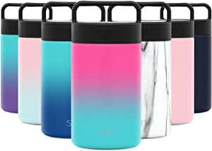 Simple Modern Kids Provision Insulated Food Jar with Handle Lid - 16oz Vacuum Insulated Stainless Steel Thermos Leak Proof Storage Container Flask for Adults, Men and Women Ombre: Sorbet