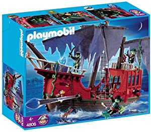 Amazon.com: Playmobil Ghost Pirate Ship Set: Toys & Games