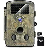Crenova RD1000 Infrared Night Vision Waterproof Hunting Trail Game Camera with 3 PIR Sensor 42pcs Low Glow IR LEDs Digital Surveillance Camera (SD Card Included)