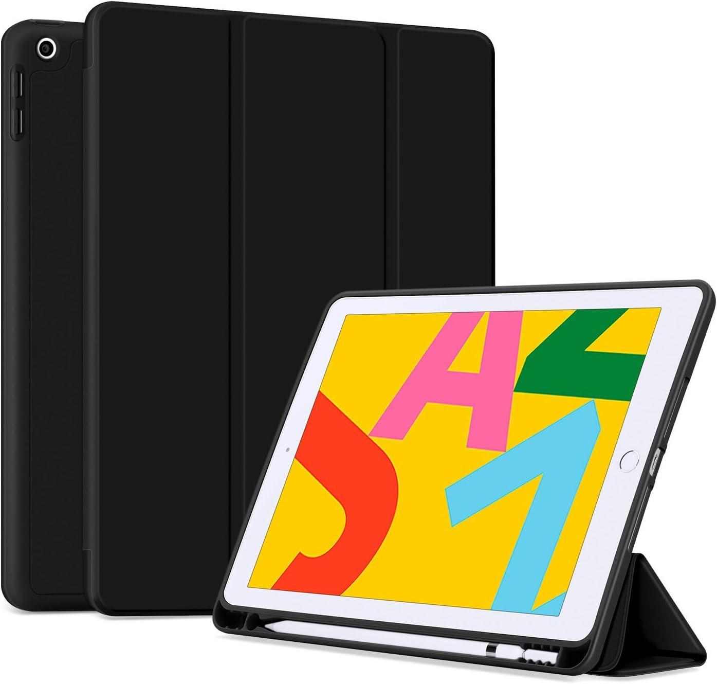 Funda iPad 10.2 8th Gen 2020/7th Gen 2019, negra, pen holder