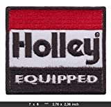 HOLLEY Iron Sew On Cotton Patches Cars V8 Racing Carburators Tuning Nascar HOL-2 RSPS Embroidery n Decals