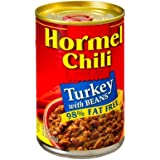 Hormel Chili Turkey with Beans 98% Fat Free 15 oz (Pack of 12)